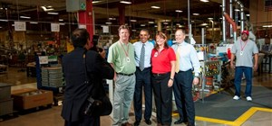 President Obama on our Polished Concrete Floor
