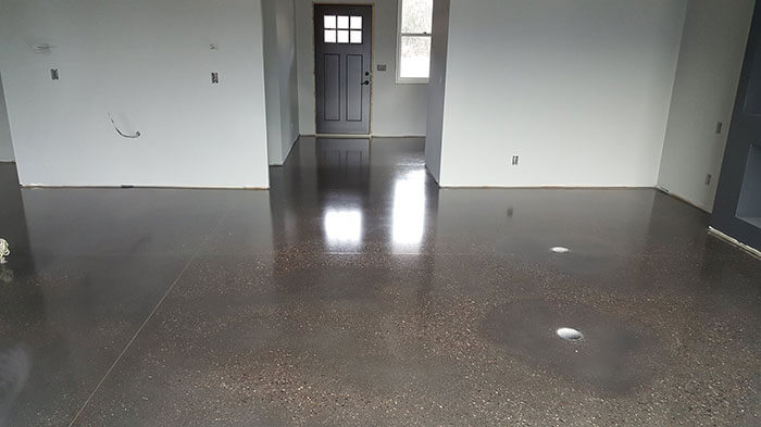 BLACK INTEGRAL COLOR CONCRETE Floors Minneapolis, Minnesota