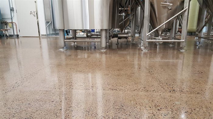 Headflyer Brewery Concrete Floors