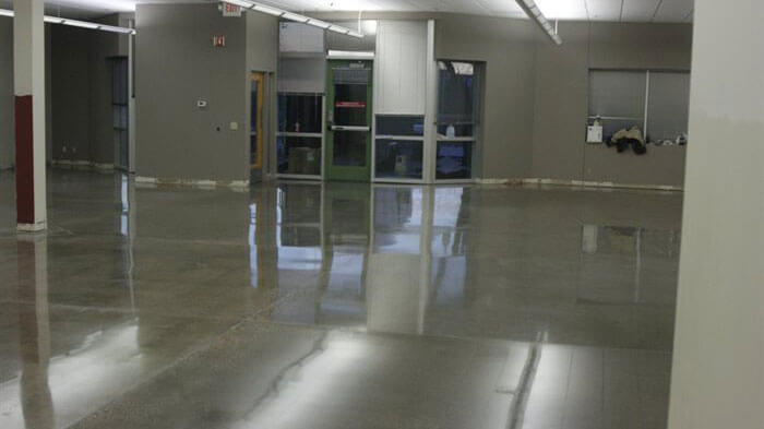 Carefusion's newly restored concrete floors.