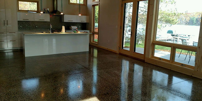 Wisconsin Cabin - Polished Concrete